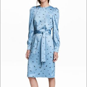 Silky H&M Bird Motif Dress